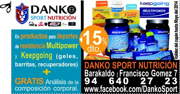 GRATIS Análisis de la composición corporal en DANKO SPORT NUTRICIÓN en BARAKALDO