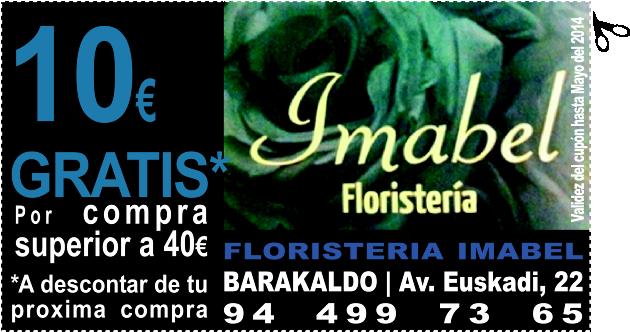 GRATIS* 10€ de descuento por compra superior a 40€ en FLORISTERIA IMABEL en BARAKALDO