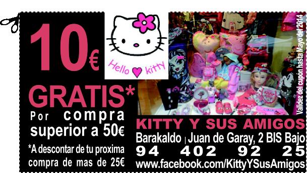 GRATIS* 10€ de DESCUENTO en KITTY Y SUS AMIGOS en BARAKALDO