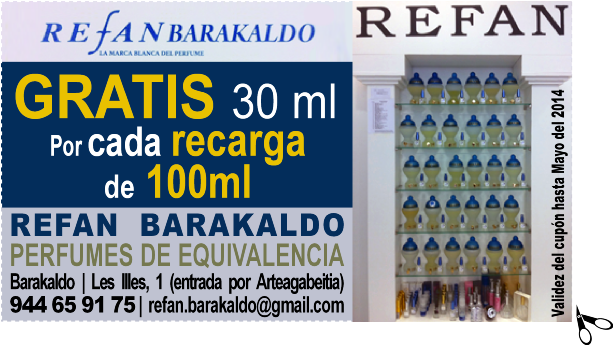 REFAN BARAKALDO PERFUMES DE EQUIVALENCIA