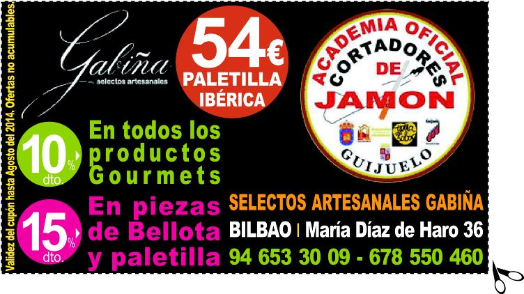 OFERTA PALETILLA IBERICA A 54€ en SELECTOS ARTESANALES GABIÑA en Bilbao