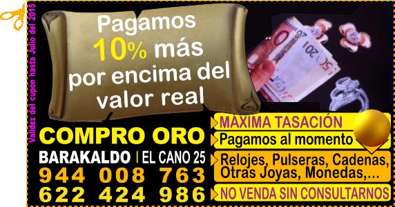 """Compro Oro y Plata Barakaldo: """"Pagamos más que nadie"""""""